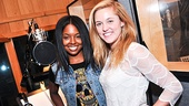Co-stars Adrienne Warren and Taylor Louderman could not be happier to participate in this recording session.