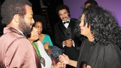 Diana Ross has a heartfelt moment with star Brandon Victor Dixon and his mother Lorna (who must be very proud!).