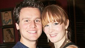 Aww! Broadway fave Jonathan Groff (who helped develop Big Fish in an early workshop) gives Kate Baldwin a squeeze.