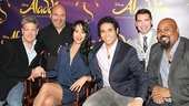 Aladdin - Meet and Greet - OP - Jonathan Freeman - Casey Nicholaw - Courtney Reed - Adam Jacobs - Chad Beguelin - James Monroe Iglehart
