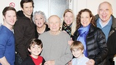 Mother and Sons stars Bobby Steggert, Frederick Weller, Tyne Daly, Alex Ammerman, Grayson Taylor and playwright Terrence McNally take a parting shot with Bullets Over Broadway stars Marin Mazzie, Karen Ziemba and Lenny Wolpe. See Mothers and Sons, opening March 24 at the Golden Theatre!
