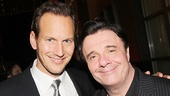 Guys and Dolls leading men Patrick Wilson (Sky Masterson) & Nathan Lane (Nathan Detroit).