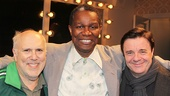 Tony nominee Lee Wilkof and Tony winner Nathan Lane flank Satchmo's John Douglas Thompson.