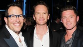 Hedwig director Michael Mayer, star Neil Patrick Harris and choreographer Spencer Liff.