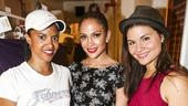Hamilton - backstage - 8/15 - Renee Elise Goldsberry, Jennifer Lopez and Phillipa Soo