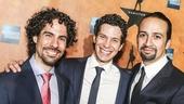 Hamilton - Opening - 8/15 - Alex Lacamoire, Thomas Kail and Lin-Manuel Miranda