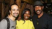 Hamilton - backstage - 8/15 - Lin-Manuel Miranda with Olivia Washington - Denzel Washington