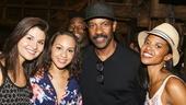 Hamilton - backstage - 8/15 - Phillipa Soo, Jasmine Cephas Jones, Denzel Washington and Renee Elise Goldsberry
