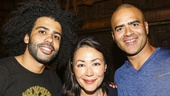 Hamilton - backstage - 8/15 - Daveed Diggs, Ann Curry and Christopher Jackson