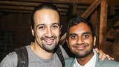 Hamilton - backstage - 8/15 - Lin-Manuel Miranda and Aziz Ansari