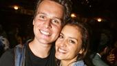 Hamilton - backstage - 8/15 - Jonathan Groff and Hannah Ware