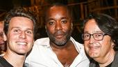 Hamilton - backstage - 8/15 - Jonathan Groff, Lee Daniels and HBO Films President Len Amato