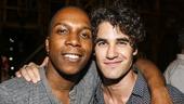 Hamilton - backstage - 8/15 - Leslie Odom Jr. and Darren Criss