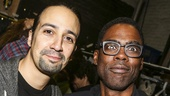 Hamilton - backstage - 9/15 - Lin-Manuel Miranda and Chris Rock