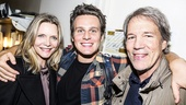 Hamilton - backstage - 9/15 - Michelle Pfeiffer, Jonathan Groff and David E Kelly