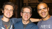 Hamilton - backstage - 10/15 - Jonathan Groff, Former White House Secretary Jay Carney and Christopher Jackson