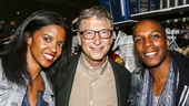 Hamilton - backstage - 10/15 - Renee Elise Goldsberry, Bill Gates and Leslie Odom Jr