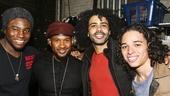 Hamilton - backstage - 10/15 - Okieriete Onaodowan, Usher, Daveed Diggs and Anthony Ramos