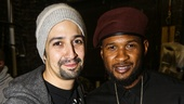Hamilton - backstage - 10/15 - Lin-Manuel Miranda and Usher