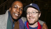 Hamilton - backstage - 10/15 - Leslie Odom Jr. and Anthony Rapp