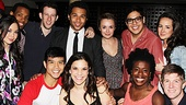 Prepare Ye The Way! The cast of Godspell gathers around Corbin Bleu on his opening night.