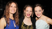 Jessie Mueller is in a Laura sandwich! Here the Nice Work star is bookended by Laura Benanti and Laura Osnes. All three played Cinderella (Into the Woods and Cinderella).