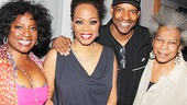 LaTanya Richardson Jackson and writer and director Regina Taylor are thrilled to have Denzel Washington and The Old Friends player Novella Nelson on hand to celebrate opening night. Catch stop. reset. at the Pershing Square Signature Center.