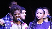 LaChanze, Tamika Lawrence and the cast of If/Then.