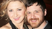 Tales From Red Vienna co-stars Nina Arianda and Michael Esper take a post-show snapshot.