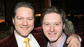 Robert Petkoff with Mothers and Sons star Bobby Steggert.