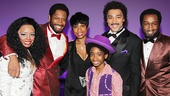 Krystal Joy Brown, Bryan Terrell Clark, Raymond Luke Jr., Charl Brown and Donald Webber, Jr. take a parting shot with Jennifer Hudson. Catch Motown at the Lunt-Fontanne Theatre!
