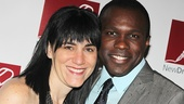 Violet is in the house! Tony-nominated director Leigh Silverman and star Joshua Henry.