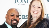 Tony-nominated Aladdin standout James Monroe Iglehart and his wife Dawn hit the red carpet.
