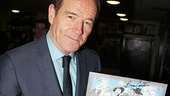 Tony nominee Bryan Cranston adds a finishing touch to the winners' sketch by Squigs!