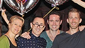 The cast of Cabaret celebrates Alan Cumming's 500 1/2 performances in the hit musical.