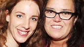Jessie Mueller takes a parting shot with Rosie O'Donnell. See Beautiful at the Stephen Sondheim Theatre!