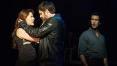 Rachel Tucker as Meg Dawson, Michael Esper as Gideon Fletcher & Aaron Lazar as Arthur Millburn in The Last Ship (Photo by Matthew Murphy)