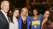 Hamilton - Backstage - Joe Biden - 7/15 - Vice President of the United States Joe Biden, Phillipa Soo, Jill Biden,Renee Elise Goldsberry and Jasmine Cephas Jones