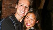 Hamilton - backstage - 8/15 - Jonathan Groff and Jenna Ushkowitz