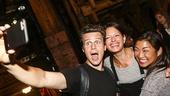 Hamilton - backstage - 8/15 - Jonathan Groff, Jackie Burns and Jenna Ushkowitz