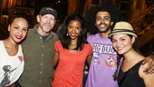 Hamilton - backstage - 8/15 - Jasmine Cephas Jones, Ron Howard, Renee Elise Goldsberry, Daveed Diggs and Phillipa Soo
