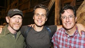 Hamilton - backstage - 8/15 - Stephen Colbert - Ron Howard, Jonathan Groff