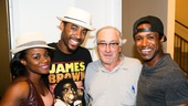 Beautiful: The Carole King Musical - backstage - Robert DeNiro -  - 9/15 - Gisela Adisa, Caliaf St. Aubyn and Alan Wiggins with Robert DeNiro