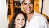 Hamilton - backstage - 9/15 - Gloria Estefan and Christopher Jackson