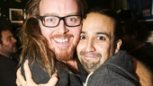 Hamilton - backstage - 9/15 -  - Tim Minchin and Lin-Manuel Miranda