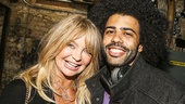 Hamilton - backstage - 9/15 - Goldie Hawn and Daveed Diggs