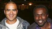 Hamilton - backstage - 9/15 - Christopher Jackson and Joshua Henry
