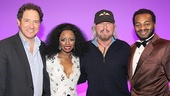 Producer Kevin McCollum, Krystal Joy Brown, Barry Gibb and Brandon Victor Dixon hang out after the show.