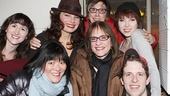Stars Kendal Hartse (on for Gabrielle), Ann Harada, Fran Drescher, producer Robyn Goodman, Carly Rae Jepsen and Joe Carroll rally around Patti LuPone. See the stars in Cinderella at the Broadway Theatre!