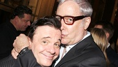 Nathan Lane gets a squeeze from his pal, lyricist Scott Wittman.